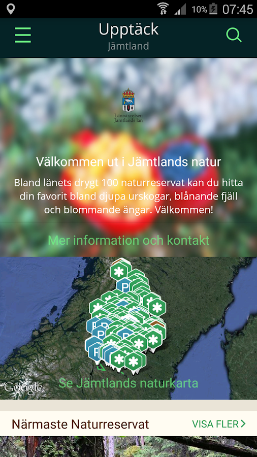 Jämtlands Naturkarta- screenshot