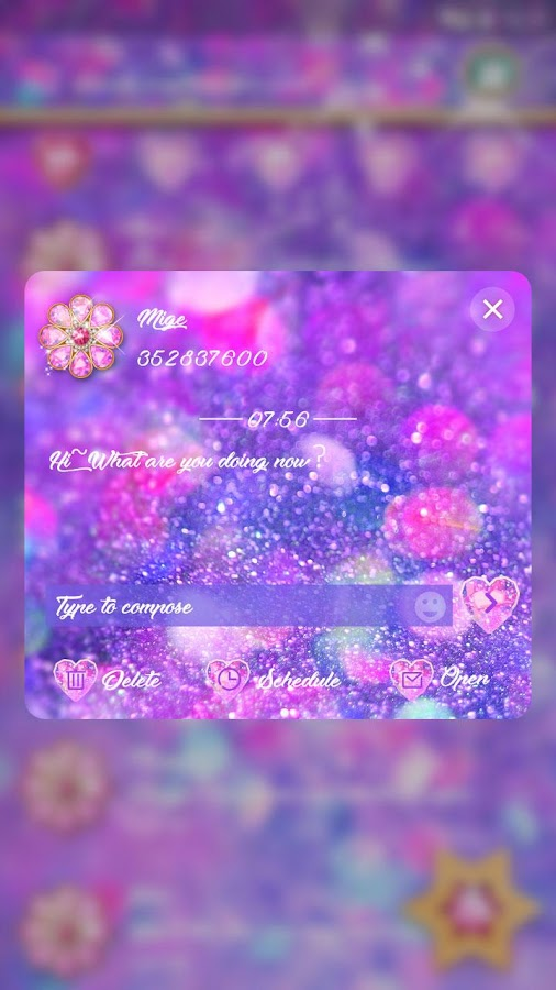 (FREE) GO SMS DREAM STARLIGHT THEME- screenshot