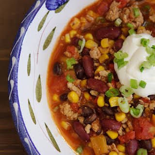 Slow Cooker Turkey Chili.