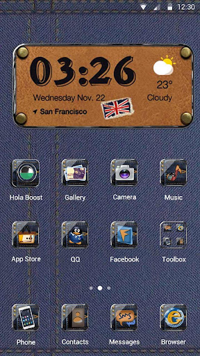 The Traveling Jeans Hola Theme Screenshot
