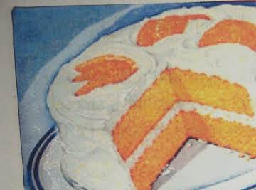 Easter  FRESH ORANGE 1929 LAYER CAKE  & FROSTING