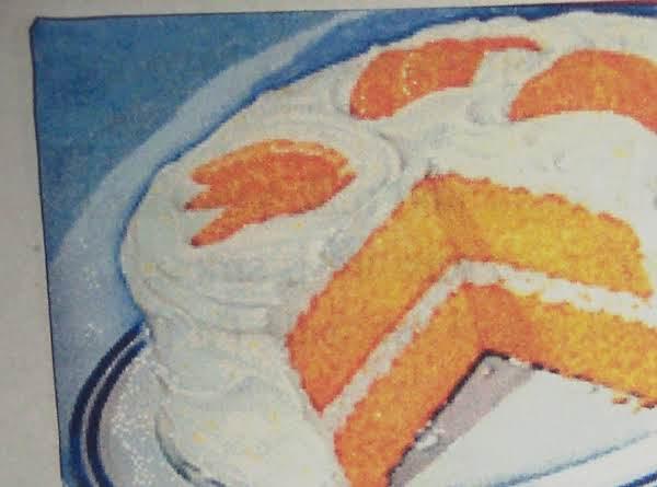 Easter  Fresh Orange 1929 Layer Cake  & Frosting