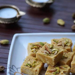Besan Condensed Milk Burfi Recipe, How to make Besan Milkmaid Burfi, Diwali Sweets Recipes.