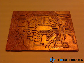 Photo: Routed PCB