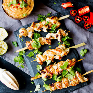 Easy Chicken Satay with Peanut Chilli Sauce