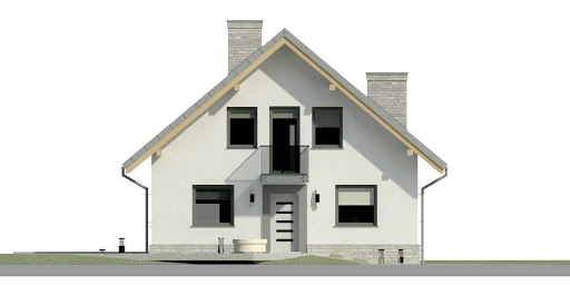 Dom przy Cyprysowej 12 N - Elewacja przednia