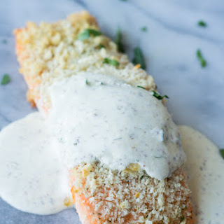 Salmon with a Creamy Dill Mustard Sauce
