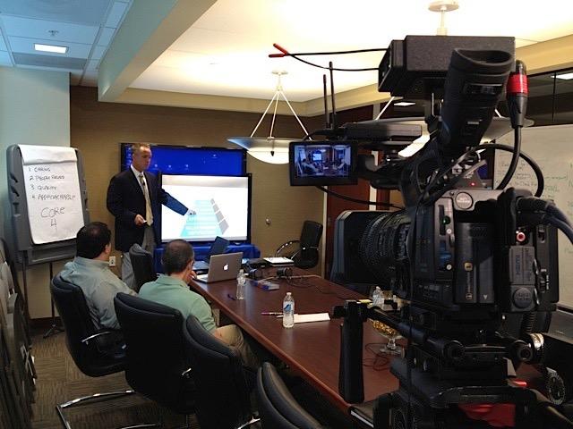 Gerry Sandusky giving a presentation.