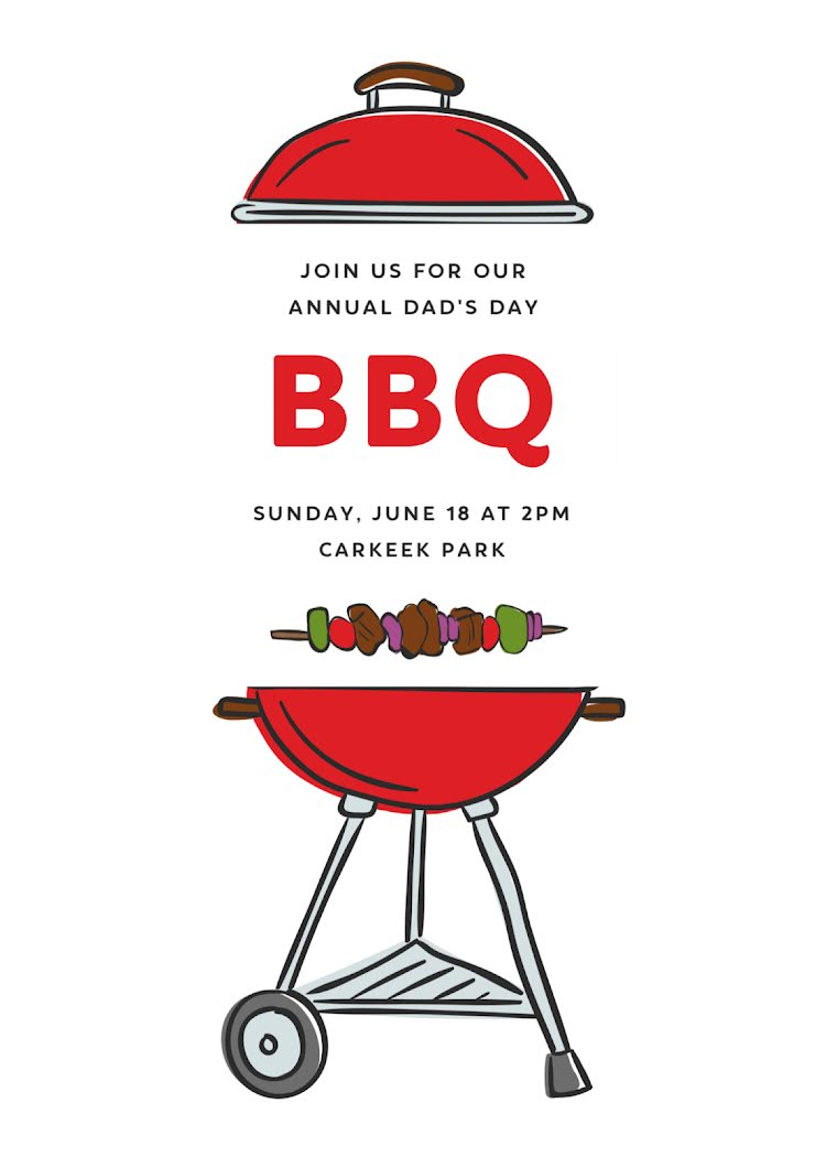 Dad's Day BBQ Party - Card Template