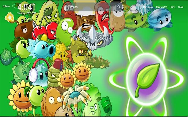 Plants vs Zombies Wallpapers NewTab Theme