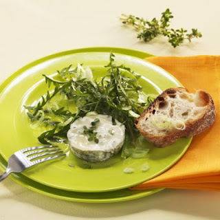 Soft Sheep's Cheese with Dandelion Leaves