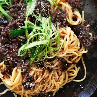 Pork Hokkien Noodles With Black Bean.