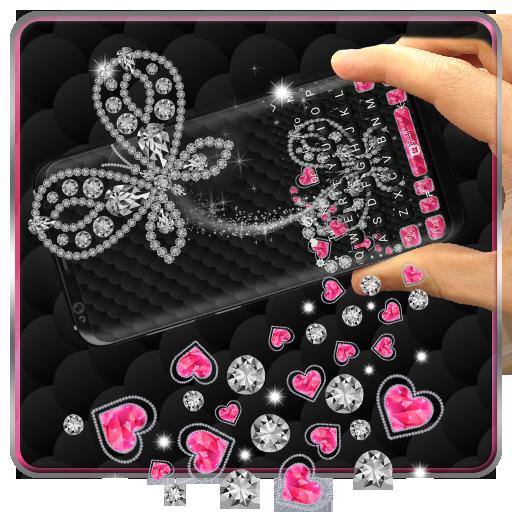 3D Diamond Butterfly Gravity Keyboard