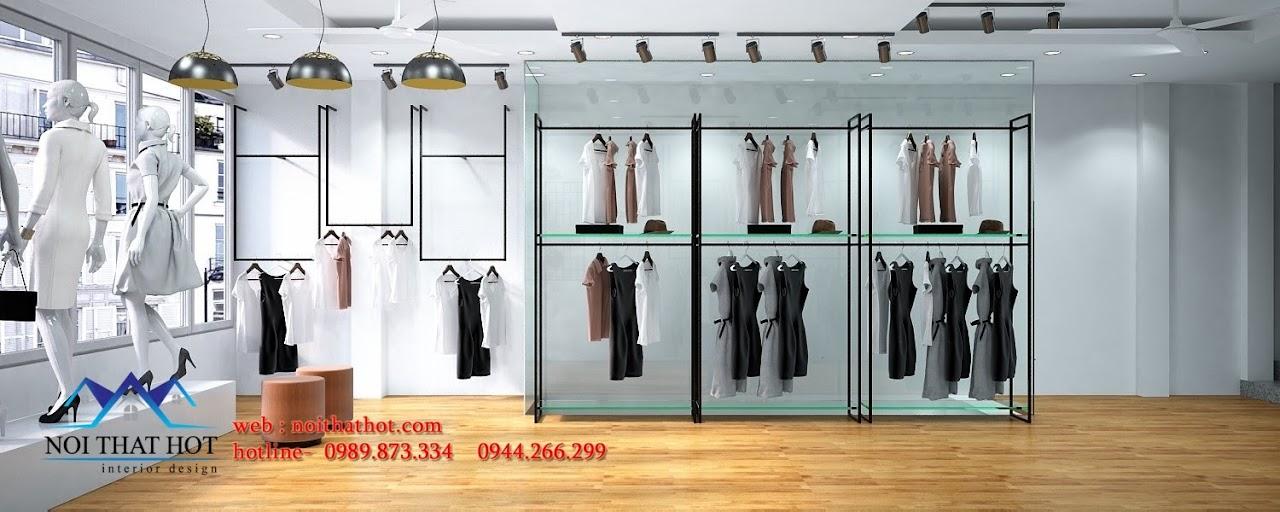 Thiết kế shop thời trang nam nữ hiện đại