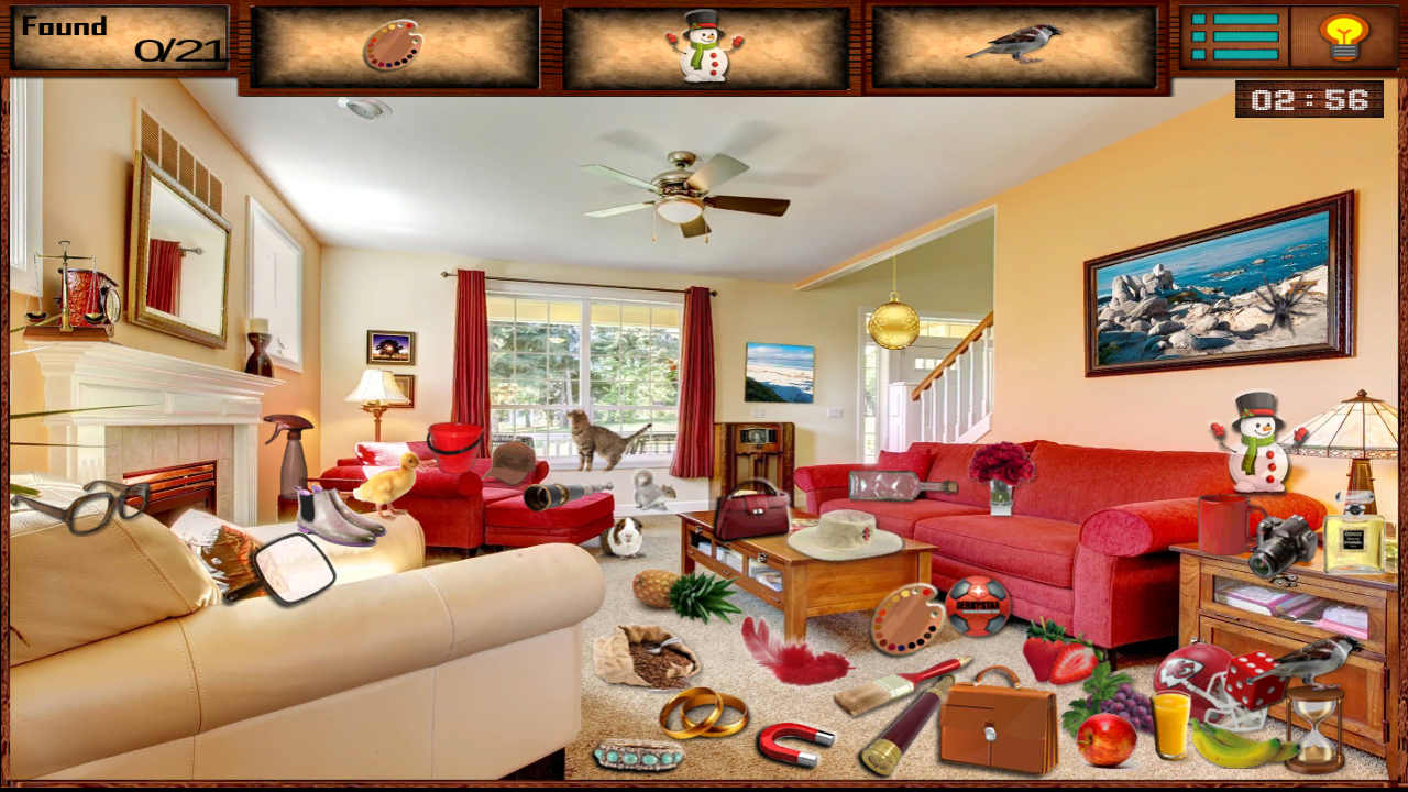 Messy Room Hidden Object Game