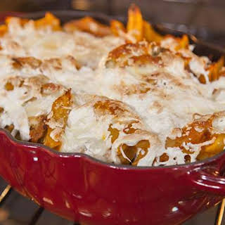 Give Cheesy Chicken Pasta Casserole A Spicy Kick With Chipotle Peppers.