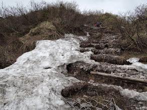 Photo: 雪がけっこう残っている。
