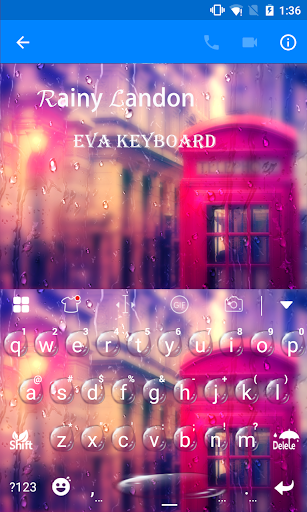 玩免費遊戲APP|下載Rainy London Eva Keyboard -Gif app不用錢|硬是要APP