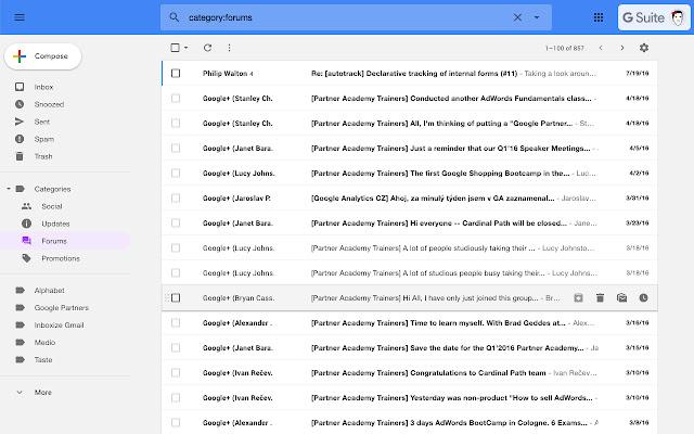 Inboxize Gmail