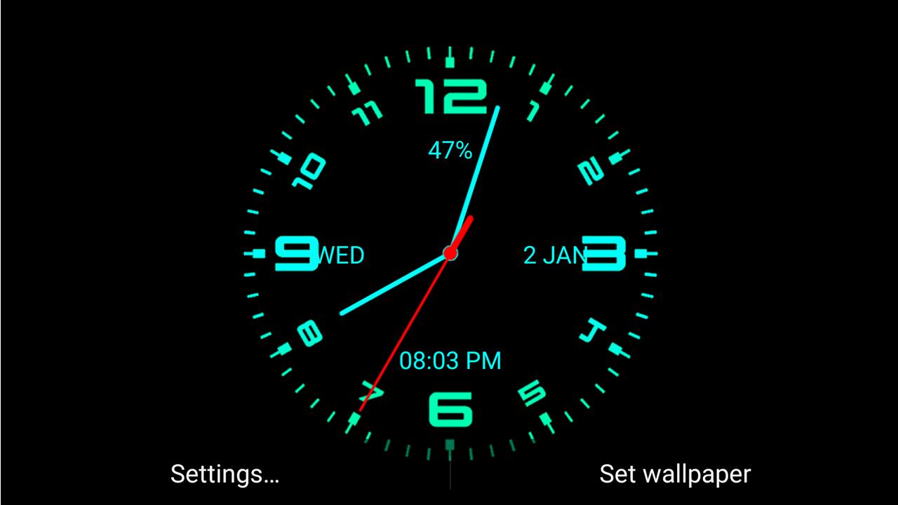 Analog Clock Live Wallpaper Android Aplikasi Appagg