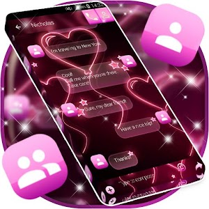 Pink Neon SMS 1.311.1.16 by Free 2020 Themes Keyboards logo