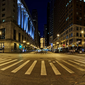 Lasalle Street Panoramic by Jamie Link - City,  Street & Park  Vistas ( chicago financial district, jamie link photography, lasalle street chicago, thompson center chicago, the canyon chicago, chicago tunnel systems, chicago panoramic photos, lasalle and randolph chicago, chicago board of trade, 41 megapixels, chicago cityscape, cityscape photography )