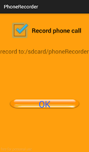 phone recorder screenshot