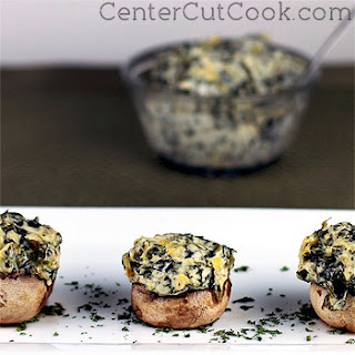Artichoke and Spinach Stuffed Mushrooms