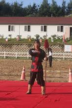 Photo: Speerkampf-Vorführung von Master Lee
