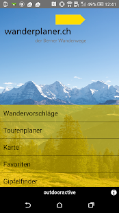 Wanderplaner BernerWanderwege- screenshot thumbnail