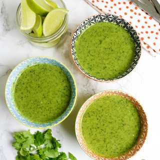 Broccoli and Kale Green Soup.