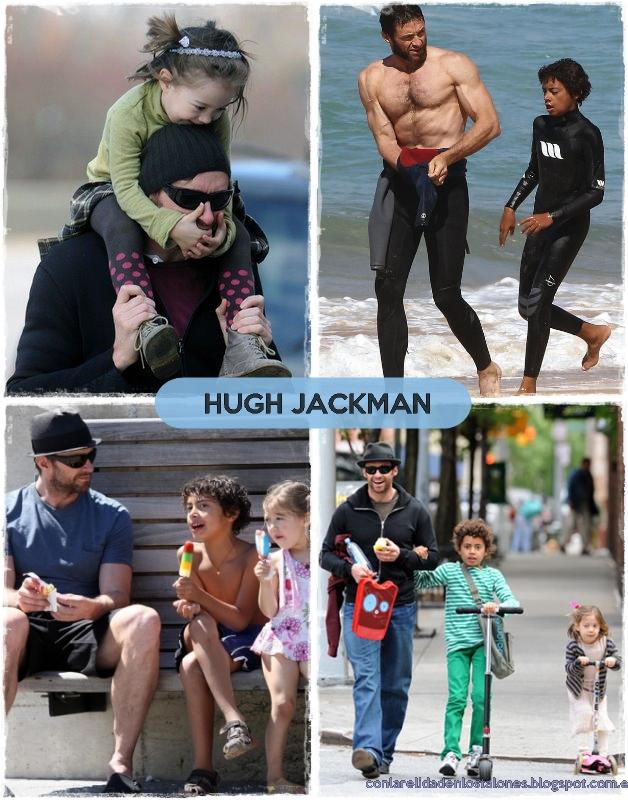Hugh Jackman con Oscar y Ava