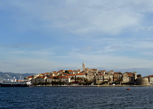 Photo: Korčula is an island right off the Croatian coast with a picturesque old town.  They claim that Marco Polo was born here.