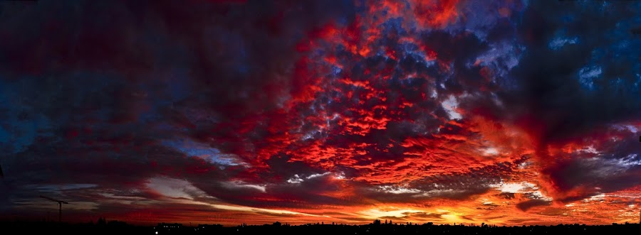 Fire in the sky by Inderjeet Singh - Landscapes Sunsets & Sunrises ( nature, sunset, landscapes, landscape, nature photo )