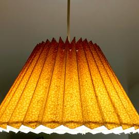 Light lamp yellow orangish hanging by Ankur Gautam - Abstract Macro