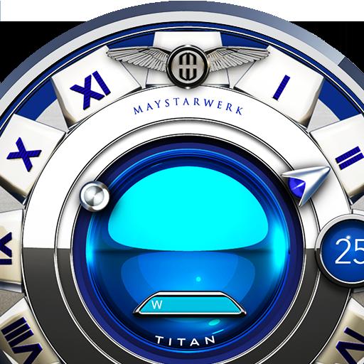 Blue Titan Watch Face