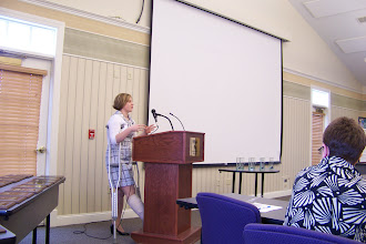 Photo: Maine Tobacco-Free Hospital Network Director, Sarah Mayberry, speaking to attendees