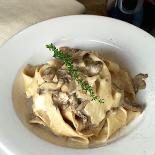 Mushroom Pappardelle with Ricotta Truffle Cream