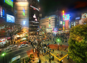 Photo: Shibuya - The Intersection - Tokyo, Japan -   Today we have a new photo from downtown Tokyo. By now, you have probably figured out that I just can't get enough of these downtown shots. Each angle is nice and different in its own way. Sometimes I like to freeze the action, and sometimes I like to let it flow. It totally depends on my mood when I am shooting. -- from Trey Ratcliff at http://www.StuckInCustoms.com - all images Creative Commons Noncommercial