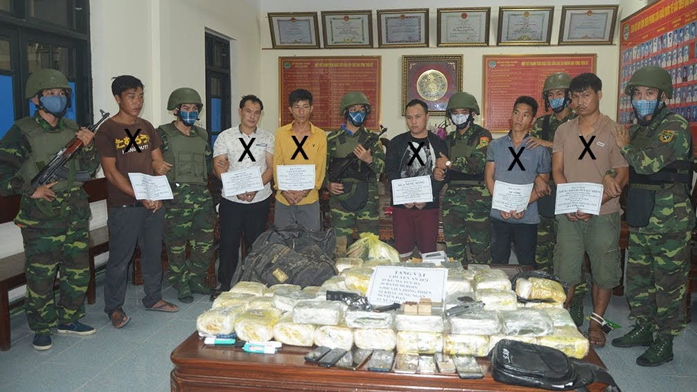 Các đối tượng (X) bị bắt giữ trong chuyên án