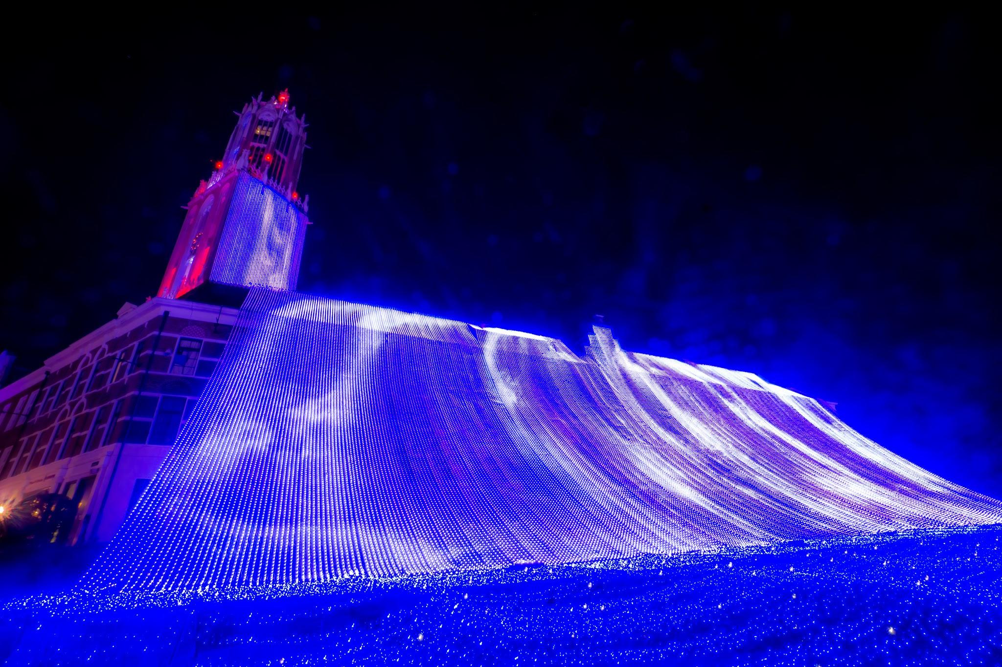 ハウステンボス イルミネーション 光の王国 光の滝2