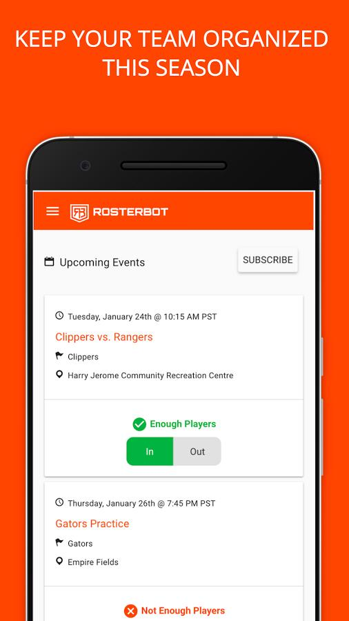 RosterBot Mobile Team Manager- screenshot