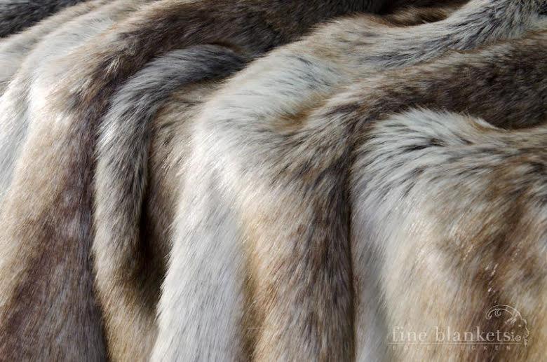 Pläd - Island Wolf 150x200