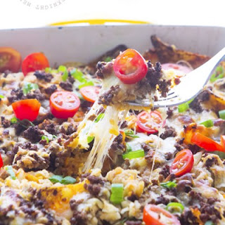 Mexican Beefy Nacho Casserole.