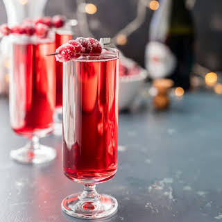 Sugared Cranberry Ginger Mimosa.