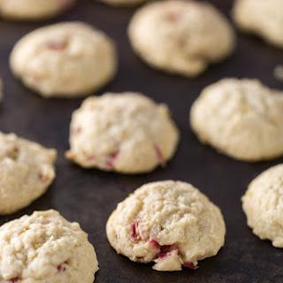 Rhubarb Lemon Drop Cookies