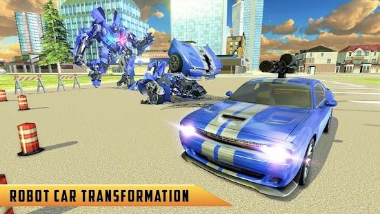 Cảnh sát Mỹ Chuyển Robot xe Cop Wild Horse Games Mod