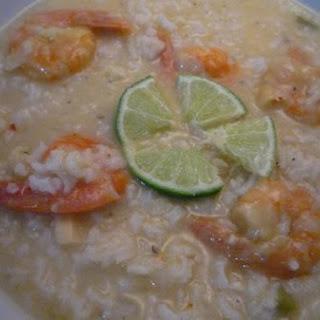 Lime Shrimp/jasmine Rice Soup.