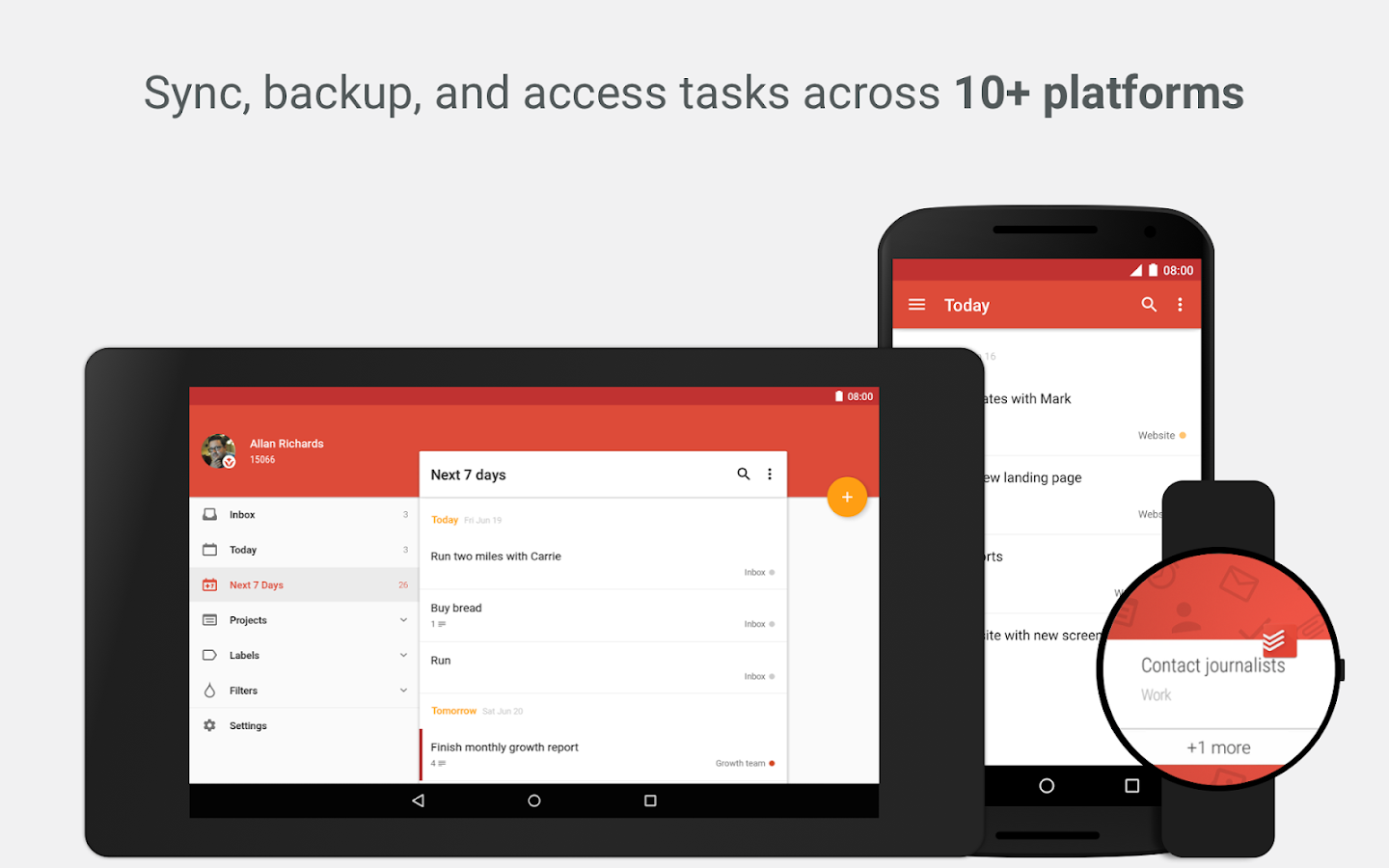 Todoist to do list task list android apps on google play for Todoist project templates