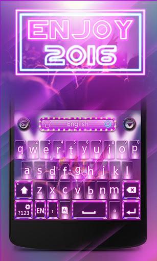 Enjoy 2016 GO Keyboard Theme